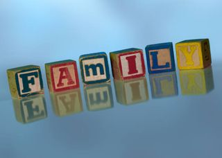 Family letter blocks