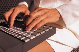 Woman on keyboard
