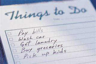 Things to do list written