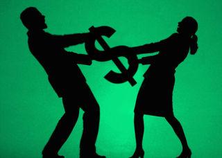 Fight over money
