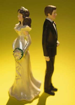 Divided wedding cake topper