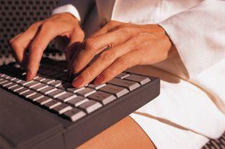 Woman on keyboard
